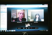 Rosemary Talab and Bobbi Makani web conferencing with AIOU discussing Assessment plans